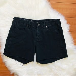 Madewell Denim Black Raw Hem Shorts Size 27